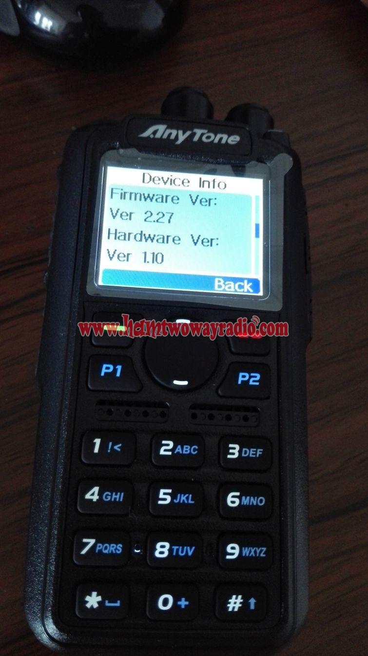 Anytone AT-D868UV GPS UHF VHF Dual Band DMR Two Way Radio