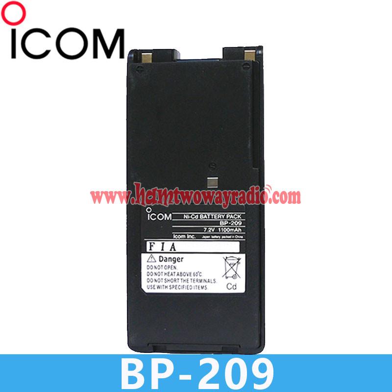 Battery Clip ICOM IC-V82 IC-F3GS IC-F3GT IC-F22 BP-209N NICD 1100mAh
