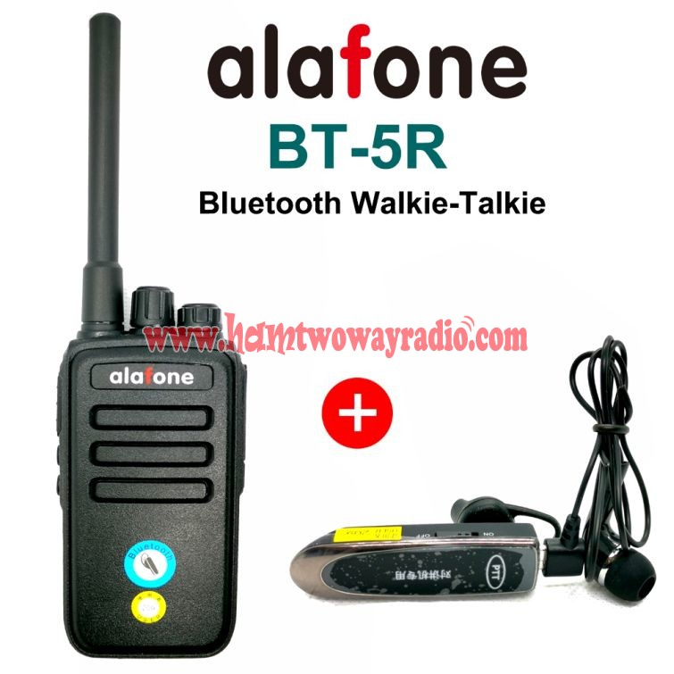 Alafone Bt 5r Bluetooth Walkie Talkie Vox Protable Uhf 400 470mhz Two Way Radio Woki Toki With Wireless Bluetooth Headset Radio Two Way Radio